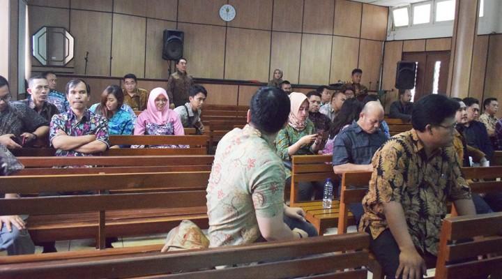 Suasana sidang putusan kasus KBN vs KCN di Pengadilan Negeri Jakarta Utara.