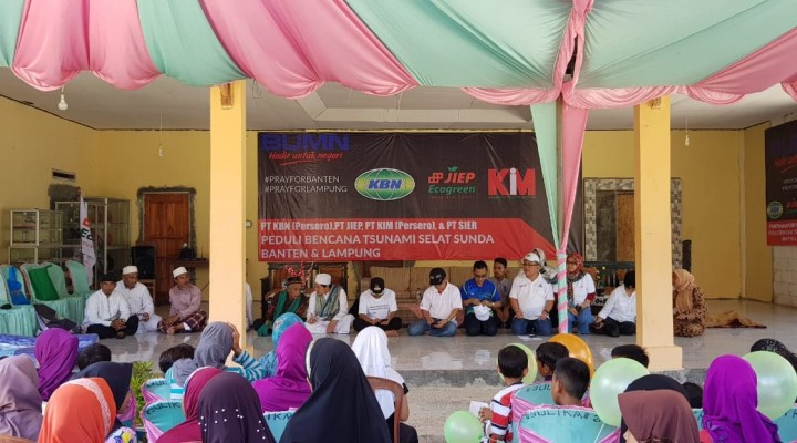 KBN Pimpin BUMN Kawasan Industri Bantu Korban Tsunami